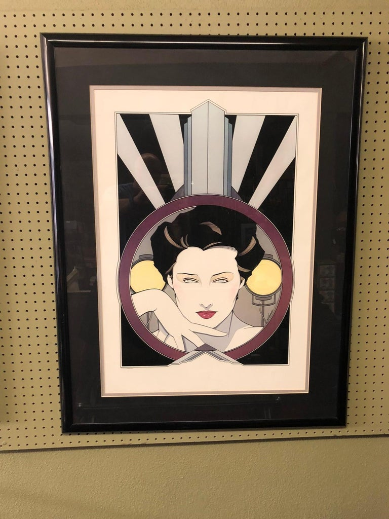 Modern Limited Edition Serigraph by Patrick Nagel