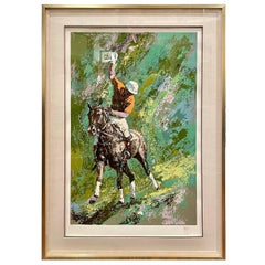 Limited Edition Serigraph Signed & Numbered Polo Player by Mark King, 1979