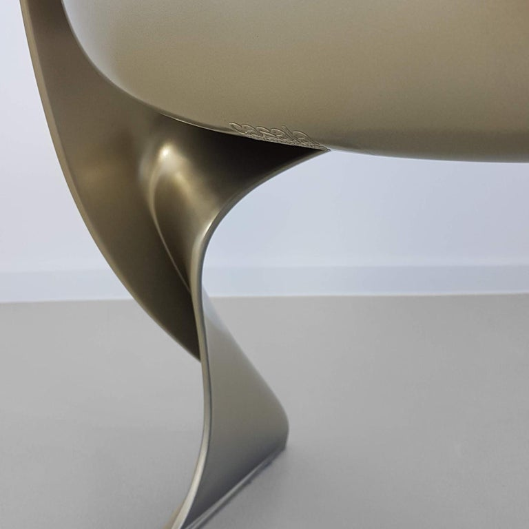 Limited Edition, Set of Six Metallic Ostergaard Space Age Chairs, 1970 For Sale 3
