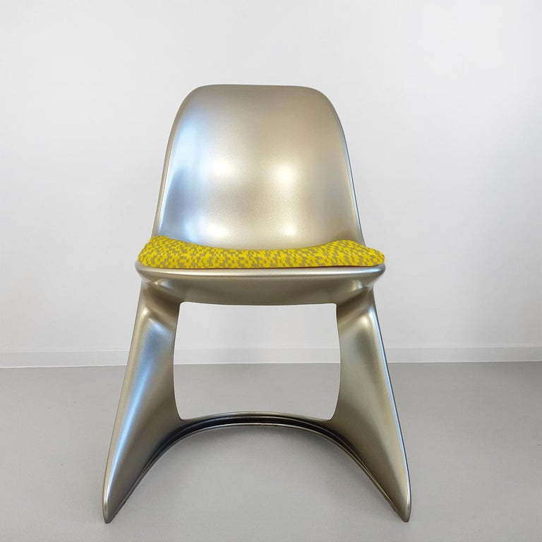 Lacquered Limited Edition, Set of Six Metallic Ostergaard Space Age Chairs, 1970 For Sale