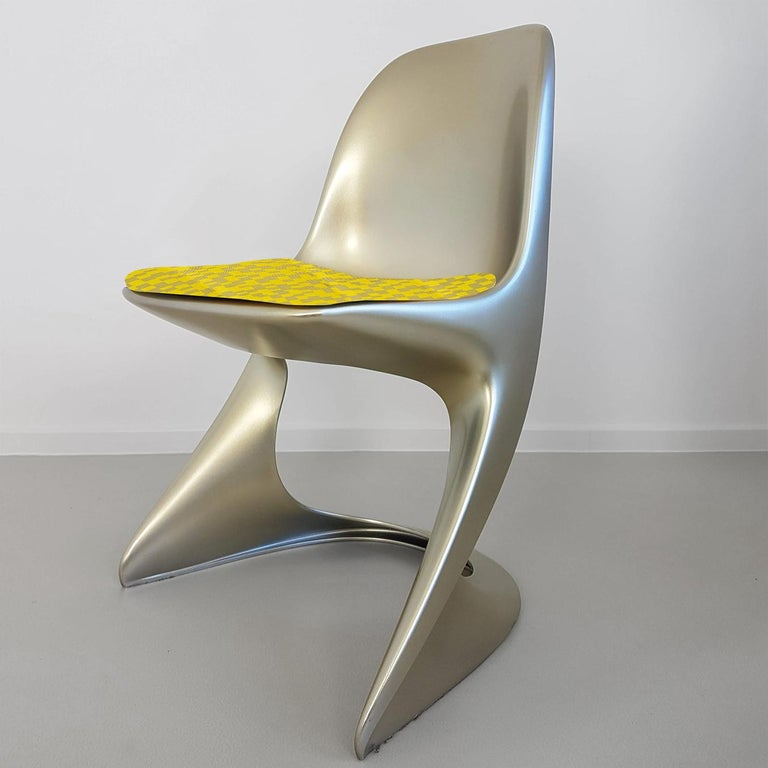 Limited Edition, Set of Six Metallic Ostergaard Space Age Chairs, 1970 In Excellent Condition For Sale In Rijssen, NL