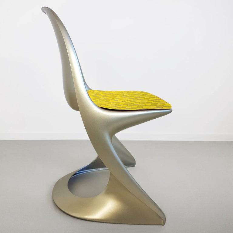 Jacquard Limited Edition, Set of Six Metallic Ostergaard Space Age Chairs, 1970 For Sale