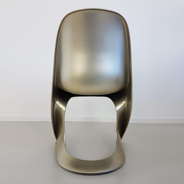 Limited Edition, Set of Six Metallic Ostergaard Space Age Chairs, 1970 For Sale 1