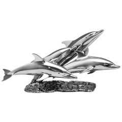 Limited Edition Sterling Silver Dolphin Pod Designed by M. King & Roger Squire