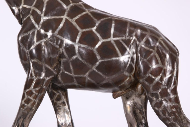 Limited Edition Sterling Silver Giraffe Sculpture by Tim Nicklin For Sale 6