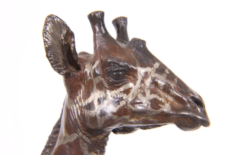 Modern Limited Edition Sterling Silver Giraffe Sculpture by Tim Nicklin For Sale