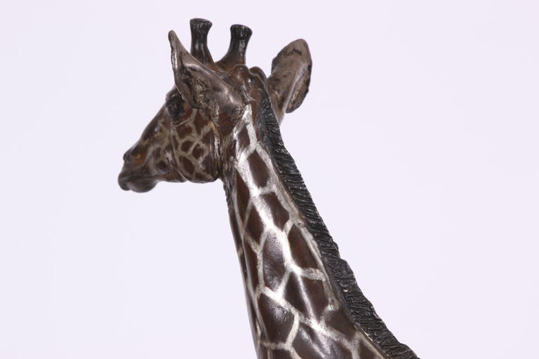 Limited Edition Sterling Silver Giraffe Sculpture by Tim Nicklin For Sale 3