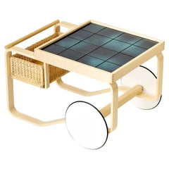 Limited Edition Tea Trolley 900 in Deep Sea by Artek + Heath