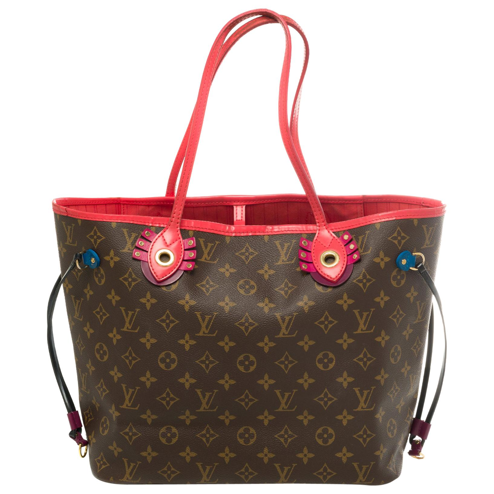 """Limited Edition """"Totem""""-Neverfull MM Tote in Monogram canvas with pouch"""