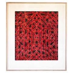 Limited Edition Valerie Jaudon Silkscreen Print, '1981'