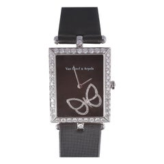 Limited Edition Van Cleef & Arpels Lady Papillon Diamond White Gold Watch