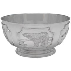 Limited Edition World Wildlife Fund Sterling Silver Bowl by Tessiers London 1977