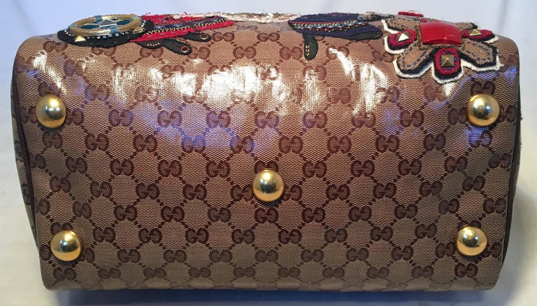 Limited Edt Gucci Gg Coated Canvas Babouska Fable Boston