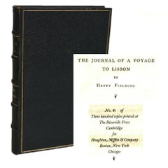 Limited Henry Fielding's Voyage to Lisbon 1902, #81/300
