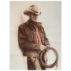 "Limited James Bama Cowboy Print ""Slim"" #20"