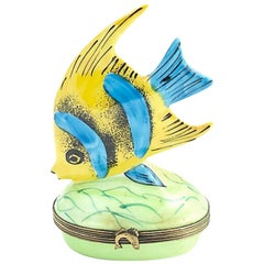 Limoges Angel Fish Trinket Box