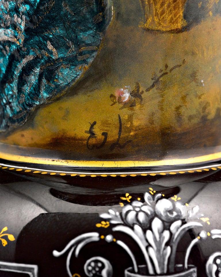 Limoges Enamel Vases In Excellent Condition For Sale In New Orleans, LA