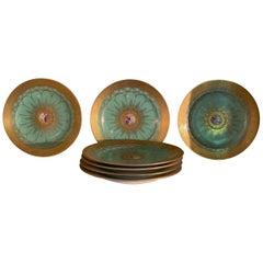 Limoges Fine Porcelain China Dinnerware Rare Set of Seven Dinner Plates