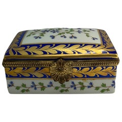 Limoges Gilt Porcelain Rectangular Box