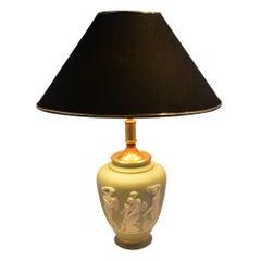 Limoges Grüne Lampe, Urnenförmig, Tharaud