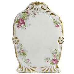 Limoges Pink Floral Gilt Menu