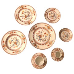Limoges Pondicherry Complete Dinner Service for Six, Nine Piece Each, French