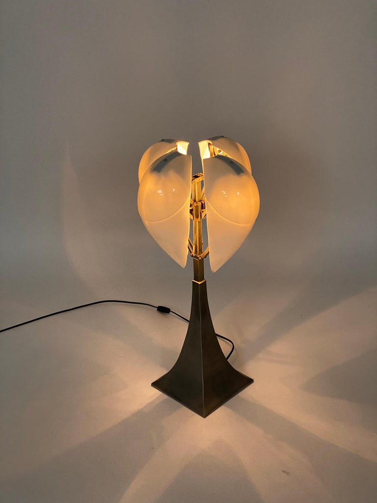 """""""Limoges"""" Porcelain and Brushed Steel Table Lamp For Sale 2"""