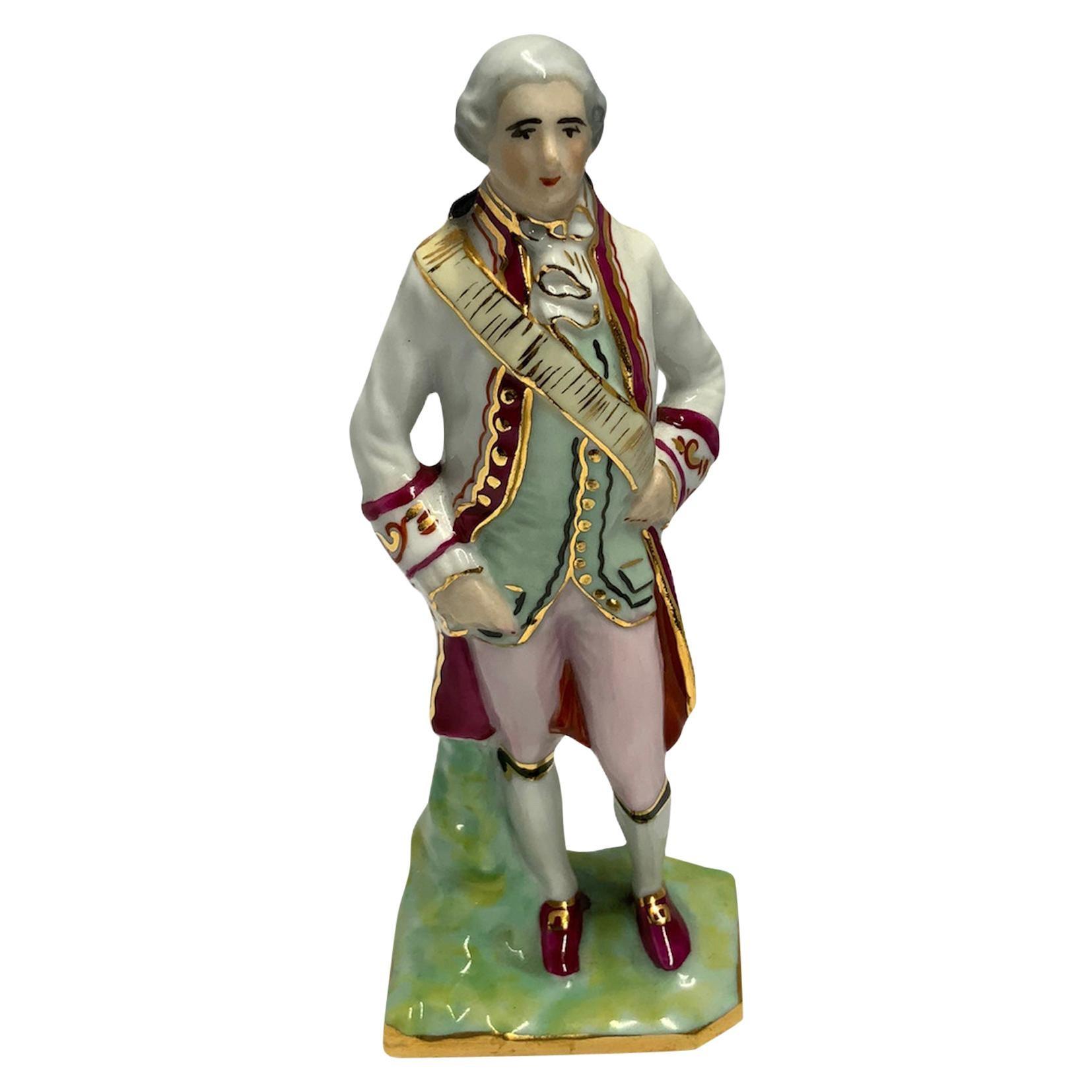Limoges Porcelain Figurine of an 18th Century Gentleman