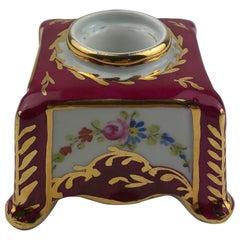 Limoges Porcelain Hand Painted Gold Trimmed Candleholder