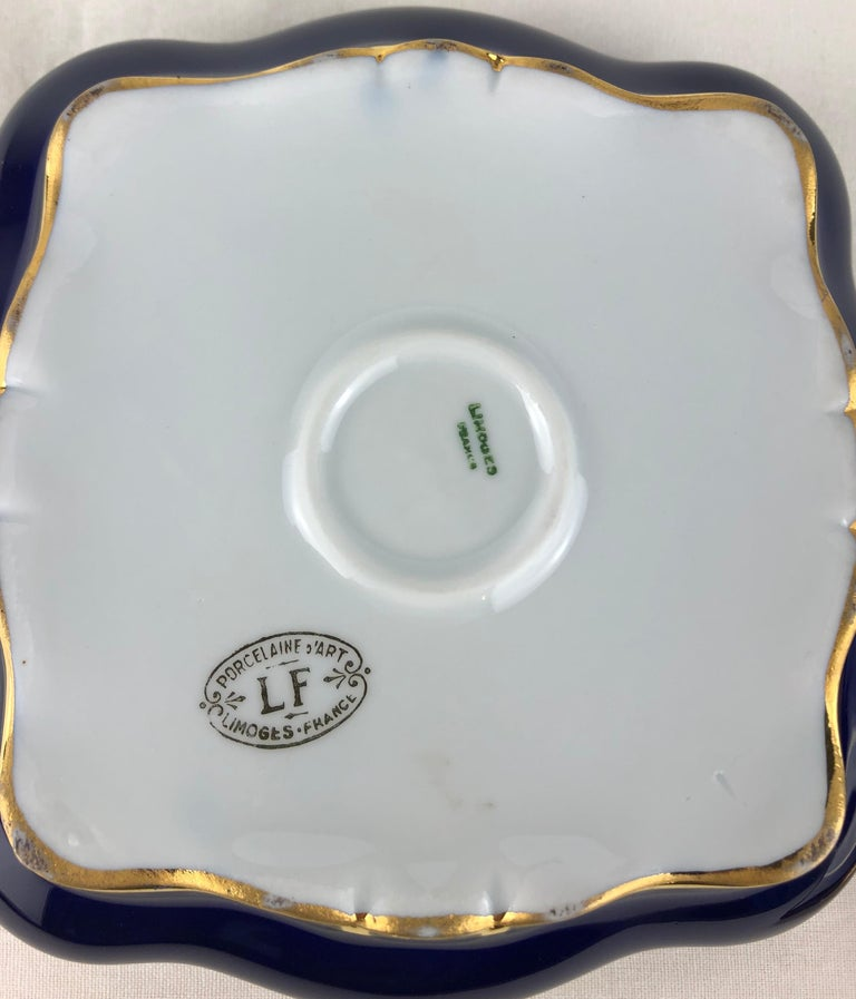 Limoges Porcelain Lidded Candy Dish, Trinket or Jewelry Box For Sale 1