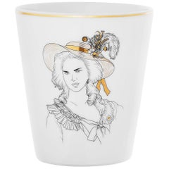 "Porcelain Mug and Gold French Parisian Style "" Marie Antoinette"""