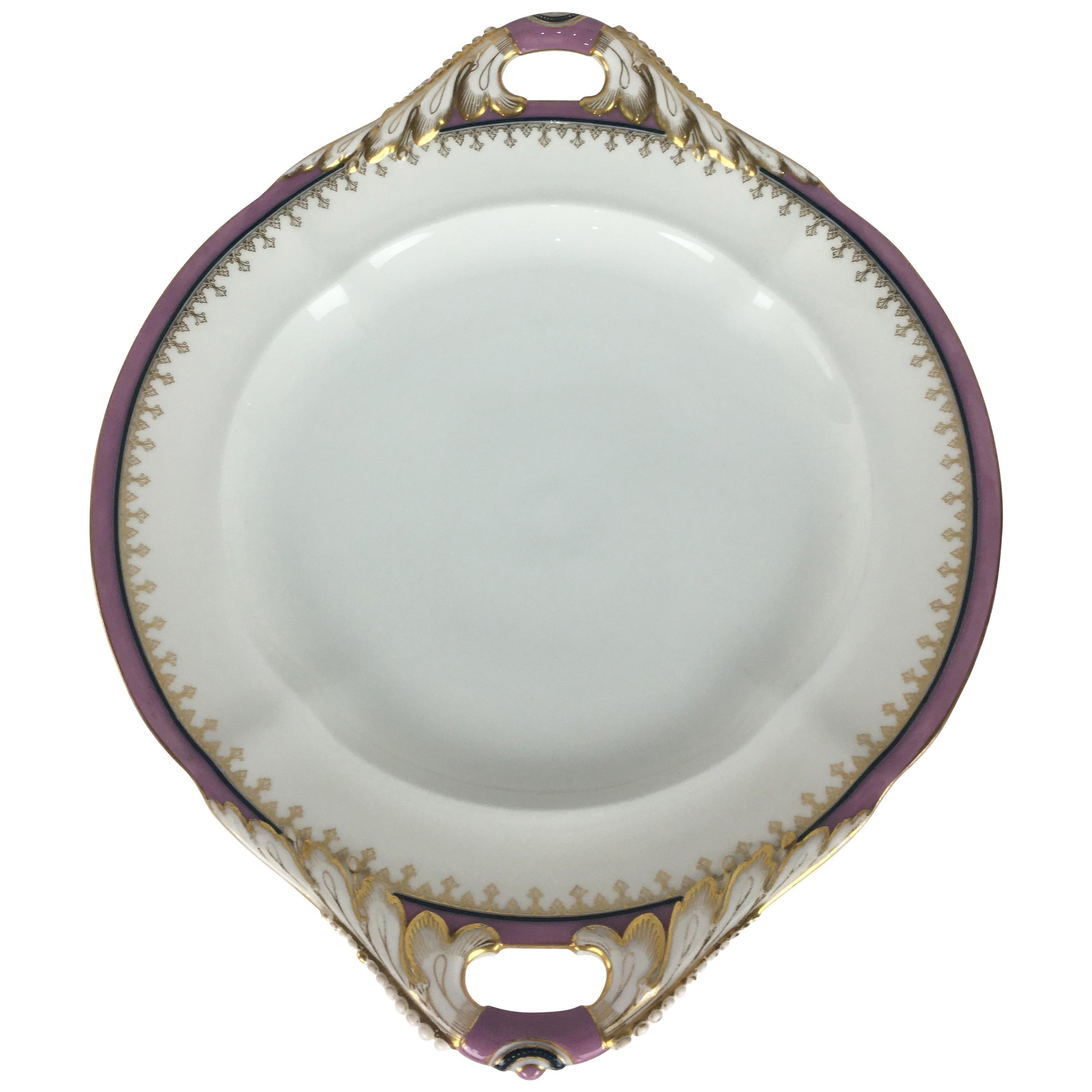 Set of 6 Limoges Porcelain Serving Dishes, Platters, Bowl and Gravy Boats Set