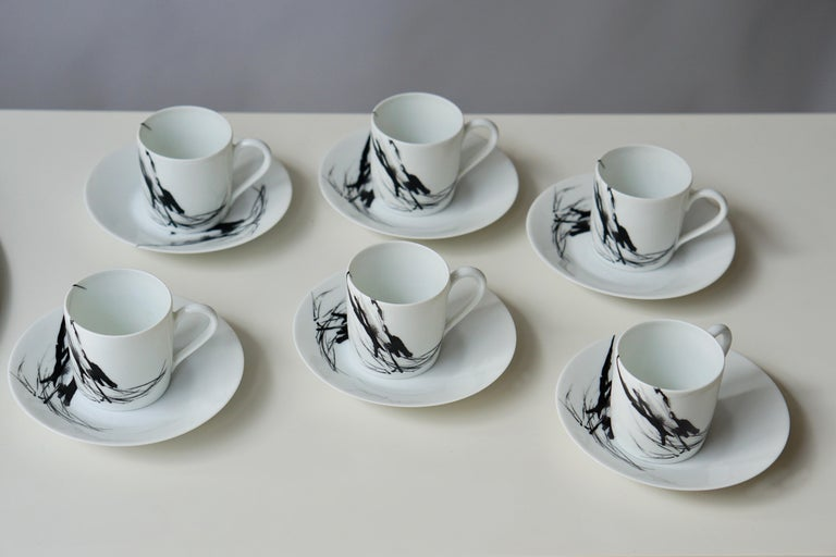 French Limoges Porcelain Tea and Coffee Service by Pierre Cardin For Sale