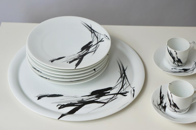 Limoges Porcelain Tea and Coffee Service by Pierre Cardin In Good Condition For Sale In Antwerp, BE
