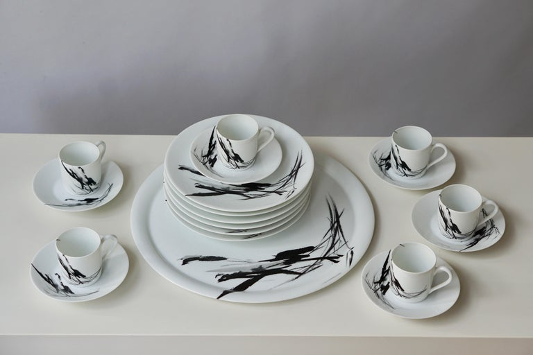 20th Century Limoges Porcelain Tea and Coffee Service by Pierre Cardin For Sale