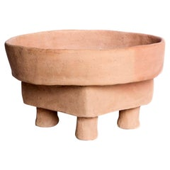 Limon Tabla Terracotta Side Tables Made of Clay, Handcrafted by the Potter Houda
