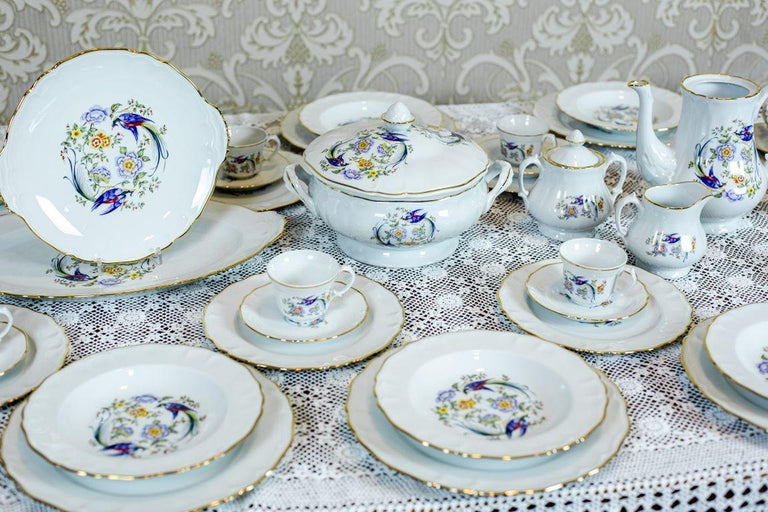 French Limonges Domino Dining-Cofee Service, 72 Pieces, circa the 1970s-1980s For Sale