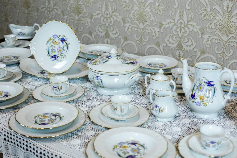 Limonges Domino Dining-Cofee Service, 72 Pieces, circa the 1970s-1980s In Good Condition For Sale In Opole, PL