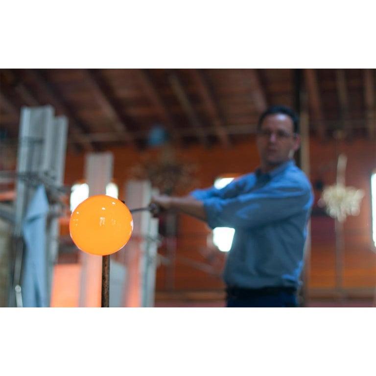 Limpid Light M-Smoke Full-Swing, Pendant Light, Hand Blown Glass, Europe For Sale 3