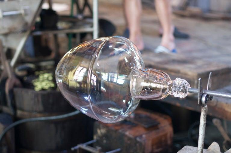 Limpid Light M-Smoke Full-Swing, Pendant Light, Hand Blown Glass, Europe For Sale 4