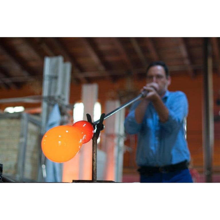 Limpid Light M-Smoke Full-Swing, Pendant Light, Hand Blown Glass, Europe For Sale 2