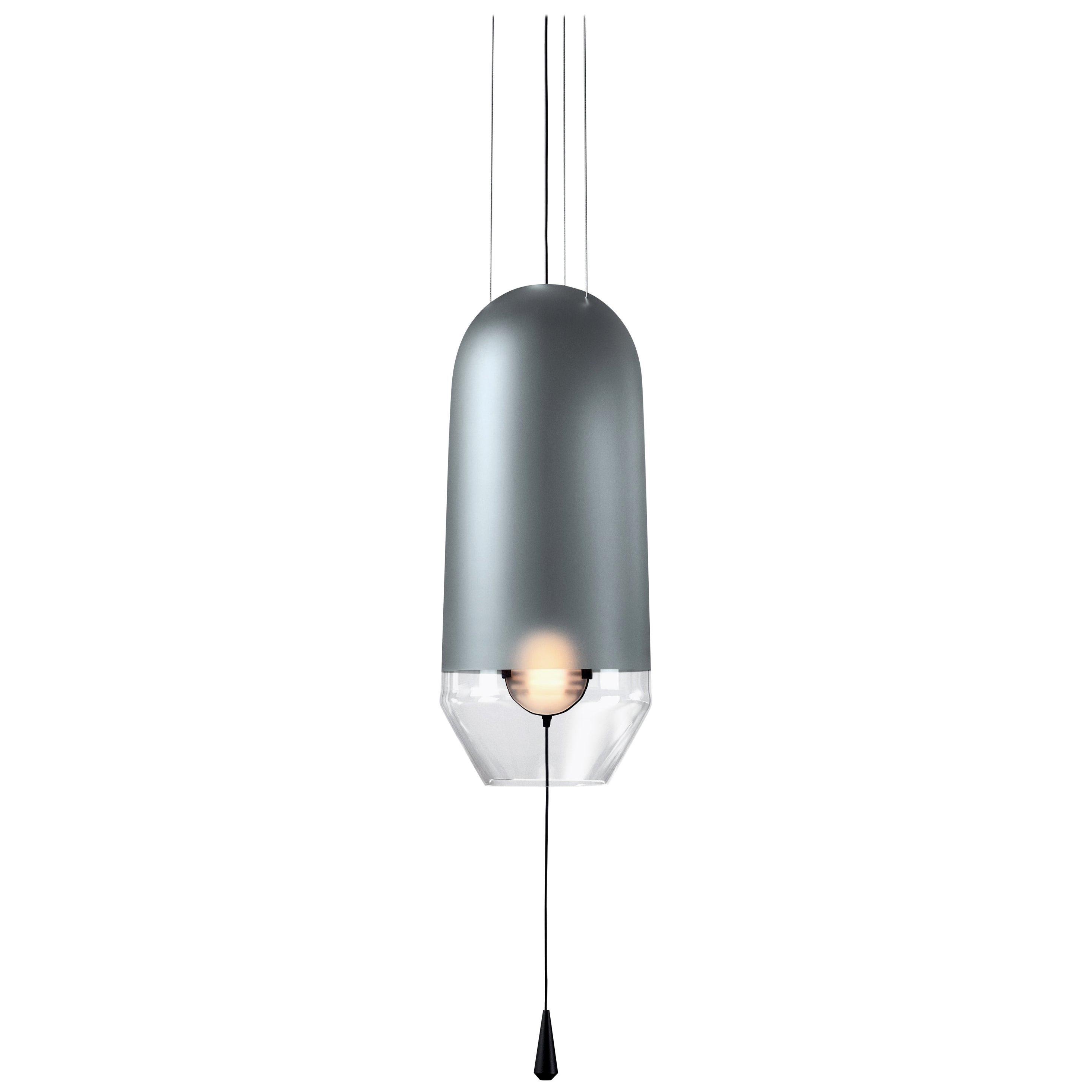 Limpid Light S Graphite Full-Swing, Decorative Light, Hand Blown Glass, Europe