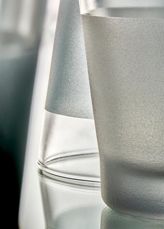 Limpid Light S Aquamarine Standard, Blue Decorative Light, Hand Blown Glass For Sale 1