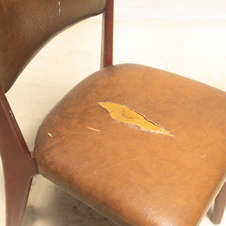 "Lina Bo Bardi ""C12"" Dining Chair for Studio d´Arte Palma, circa 1950 For Sale 4"