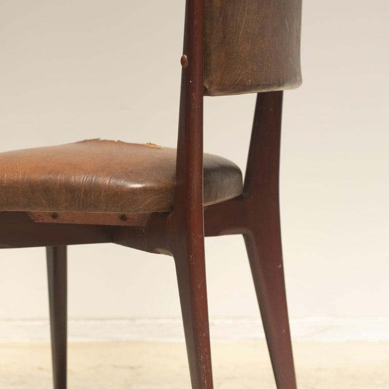 "Lina Bo Bardi ""C12"" Dining Chair for Studio d´Arte Palma, circa 1950 For Sale 5"