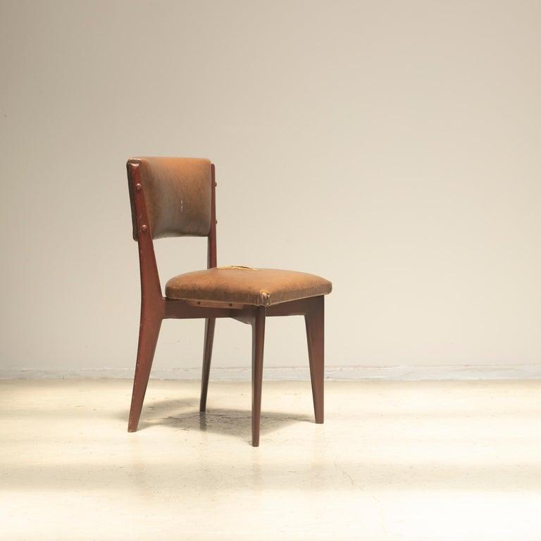 "Brazilian Lina Bo Bardi ""C12"" Dining Chair for Studio d´Arte Palma, circa 1950 For Sale"