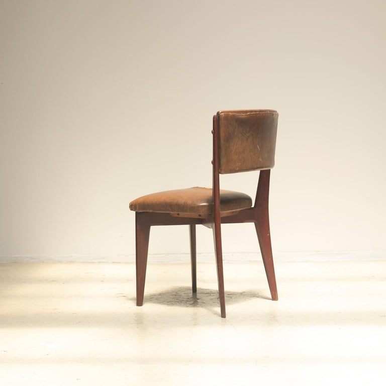"""Lina Bo Bardi """"C12"""" Dining Chair for Studio d´Arte Palma, circa 1950 In Fair Condition For Sale In Tokyo, JP"""