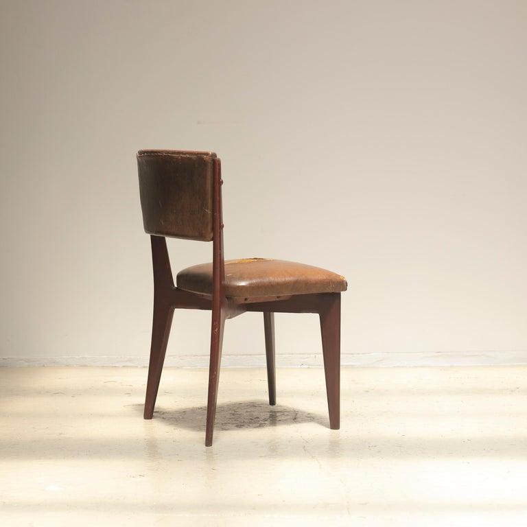 "Mid-20th Century Lina Bo Bardi ""C12"" Dining Chair for Studio d´Arte Palma, circa 1950 For Sale"
