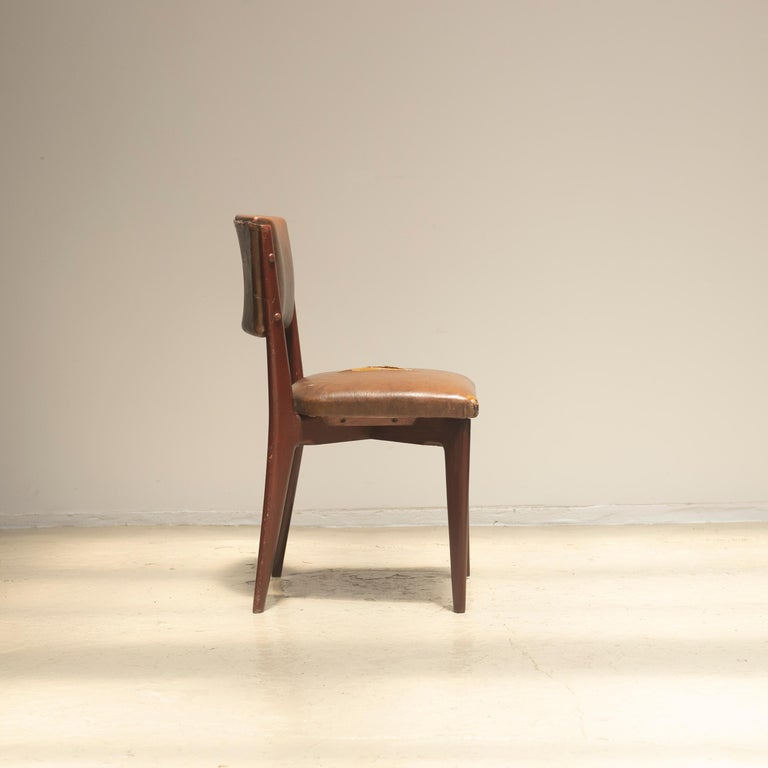 "Lina Bo Bardi ""C12"" Dining Chair for Studio d´Arte Palma, circa 1950 For Sale 1"