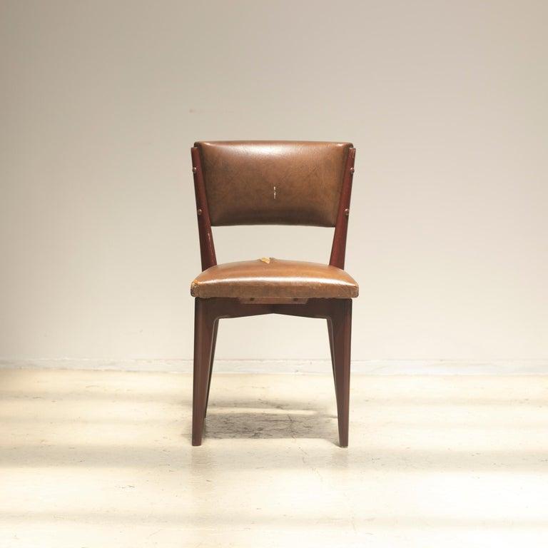 "Lina Bo Bardi ""C12"" Dining Chair for Studio d´Arte Palma, circa 1950 For Sale 2"
